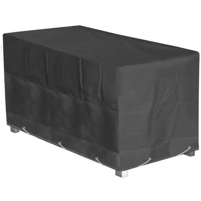 green club housse de protection pour table de jardin 160x100x65cm anthracite