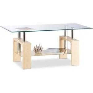 table basse design bois et verre