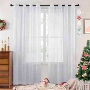 rideau en lin blanc