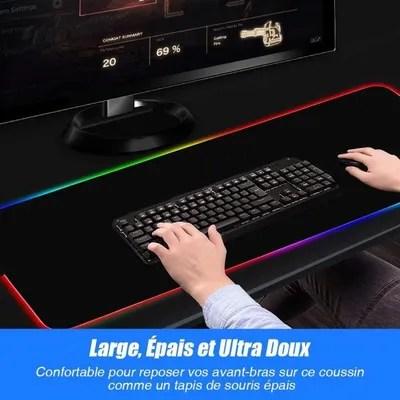 https www cdiscount com informatique clavier souris webcam amorus tapis de souris gamer lumineux xxl gaming f 107021422 amo5710782879316 html