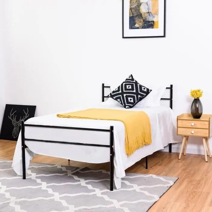 lit 1 place adulte avec sommier et matelas