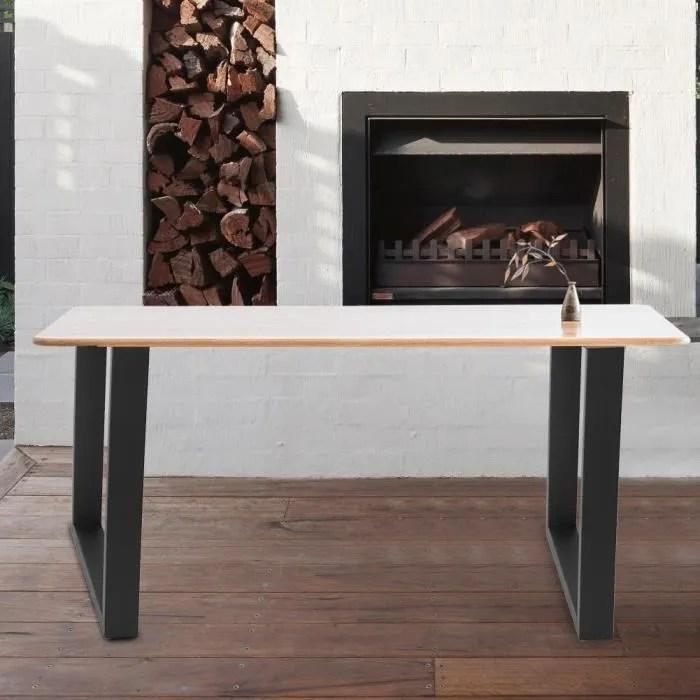 2pcs pieds de table supports en acier industriel pied de bureau pour meubles domestiques 60 72cm