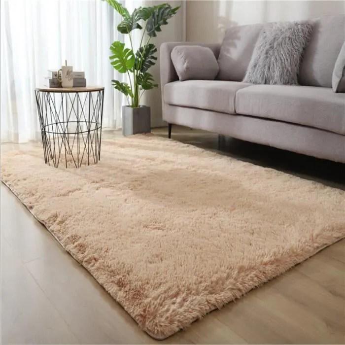 tapis salon shaggy marron clair 280 x