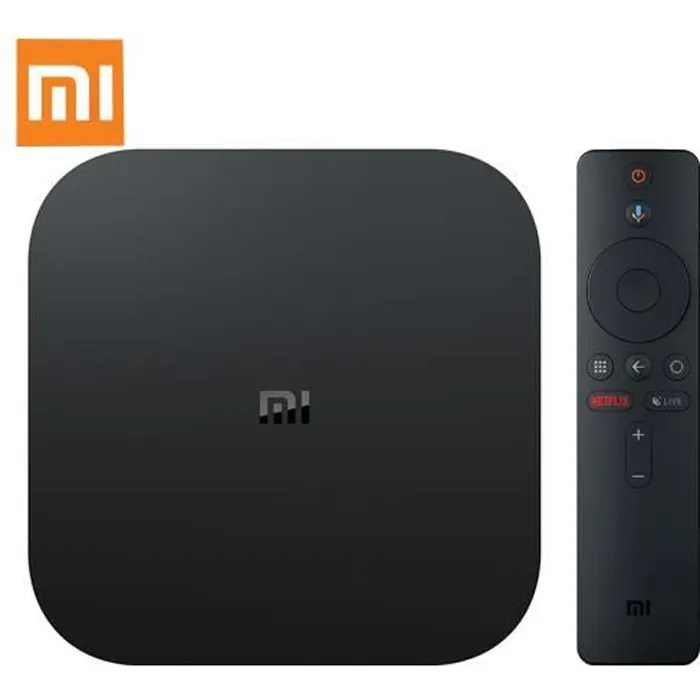 XIAOMI Boîtier TV multimédia Mi TV Box S 4K HDR Android 8.1 WIFI Google Cast Netflix IPTV