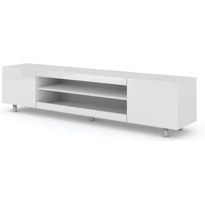 meuble tv table kate 189 cm salon hi fi commode bl