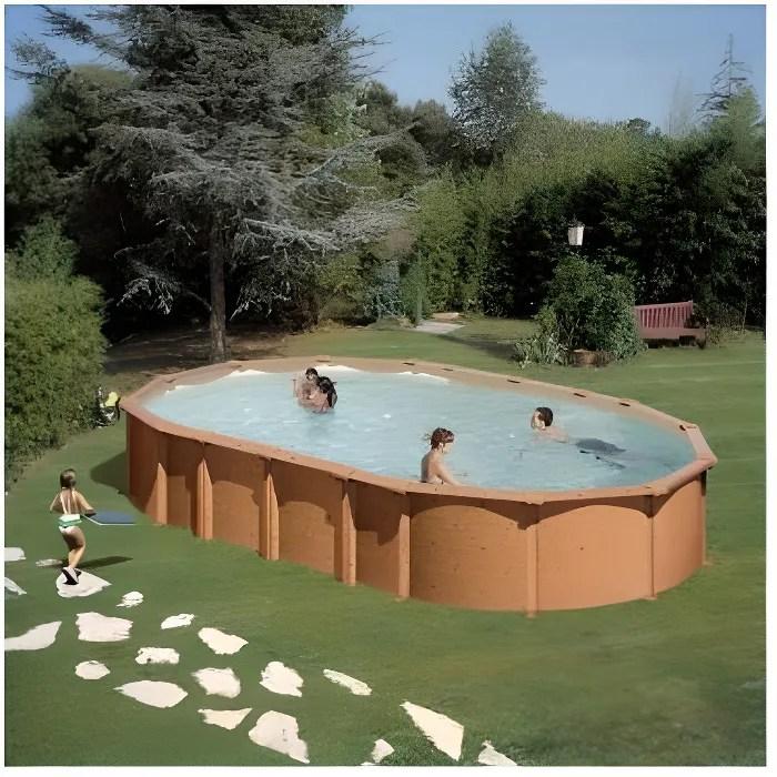 piscine imitation bois