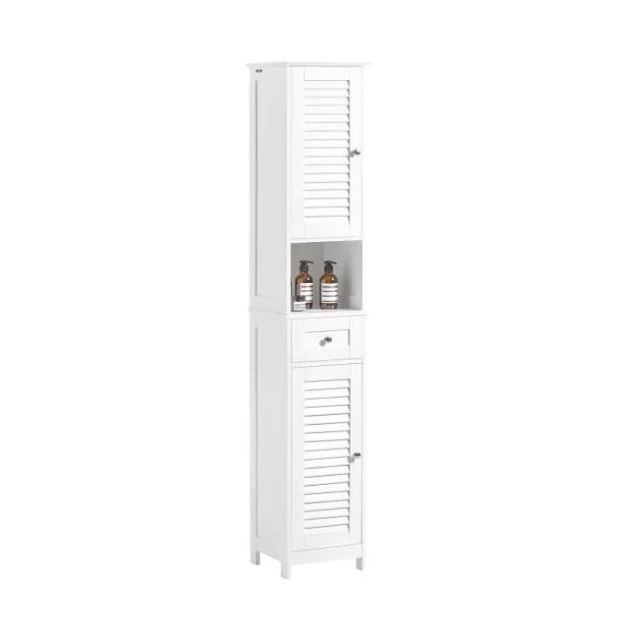 sobuy frg236 w meuble colonne de salle de bain ar