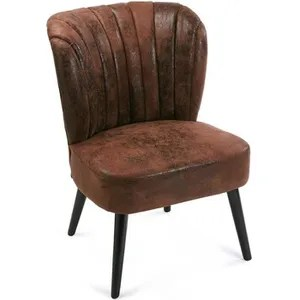 fauteuil cuir vieilli