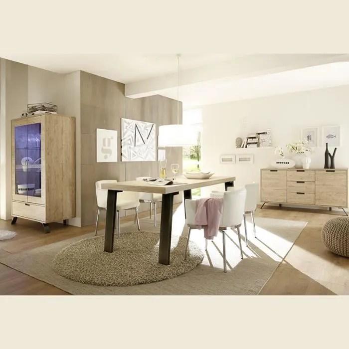 salle a manger complete moderne couleur bois clair