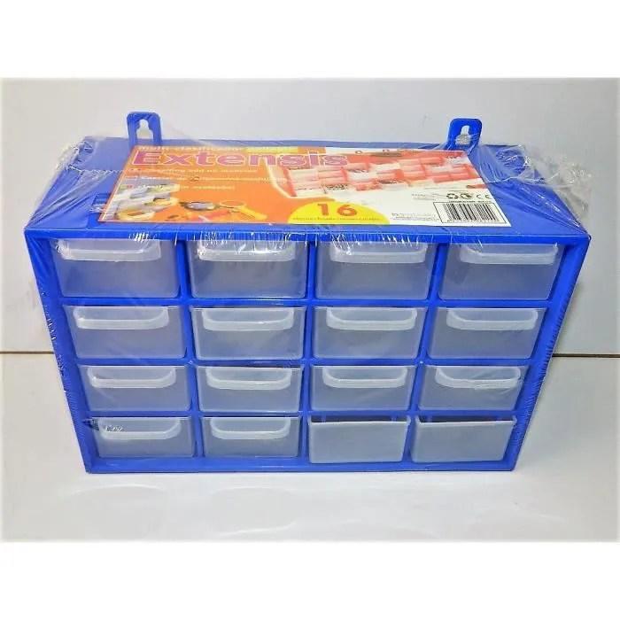 casier de rangement 16 tiroirs boite