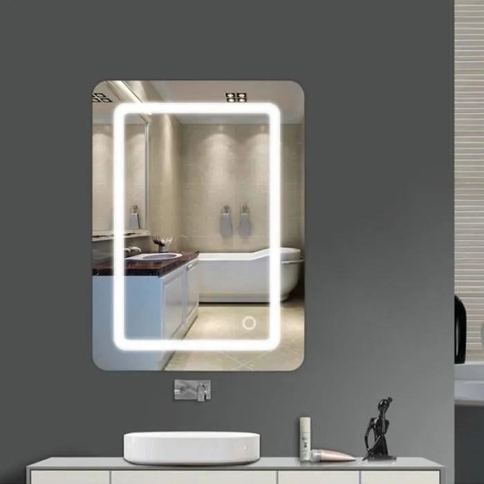 Ouistore Miroir Lumineux Led De Salle De Bain 9 W Dim 50 X 4 X 70 Cm Neuf 24 Achat Vente Miroir Salle De Bain Soldes Des Le 15 Juillet Cdiscount