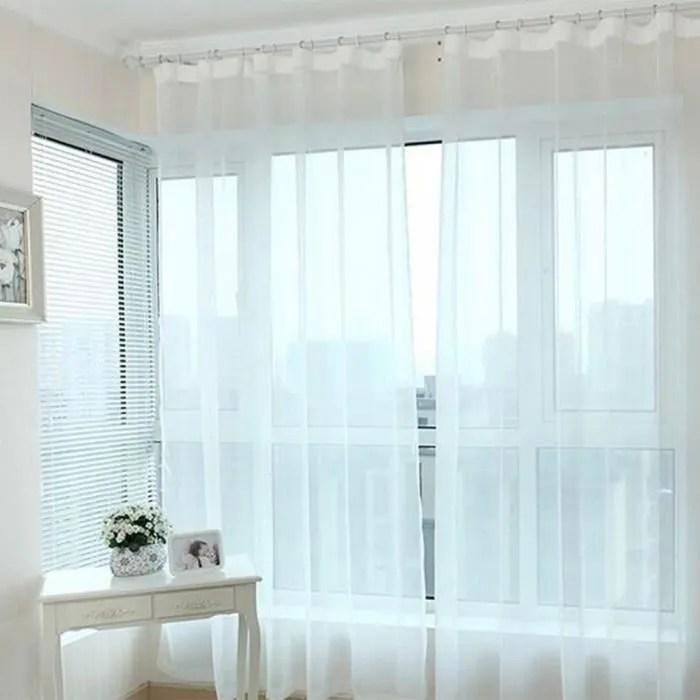 1pcs 200cm 210cm rideaux voilage blanc a oeillet p