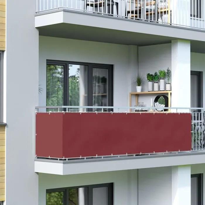 brise vue pour balcon basic tissu impermeable b