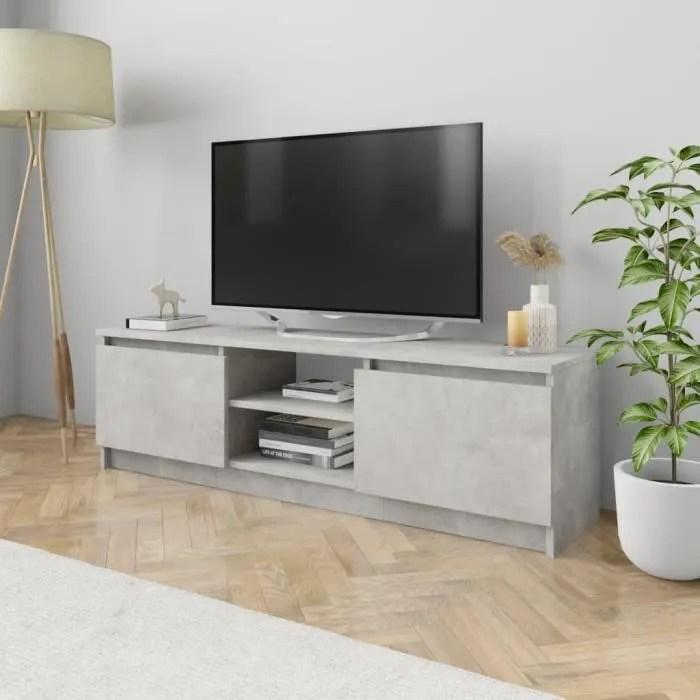 xixi meuble tv gris beton 120x30x35 5