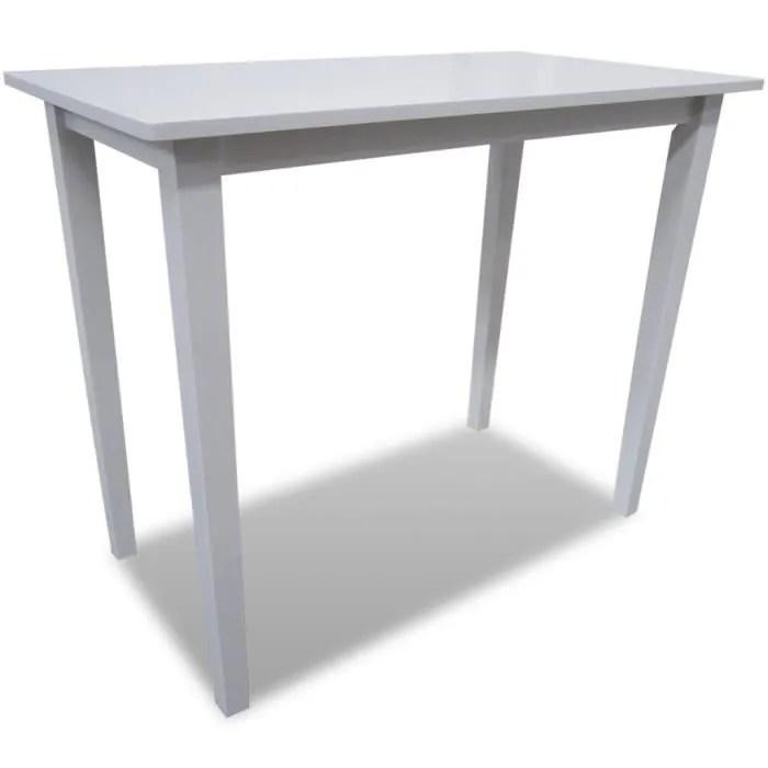 table de bar blanche en bois