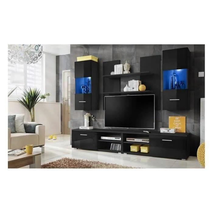 meuble tv sparko 220 cm couleur noir