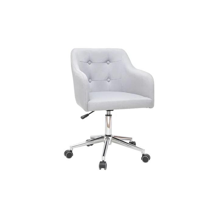 fauteuil de bureau design tissu gris