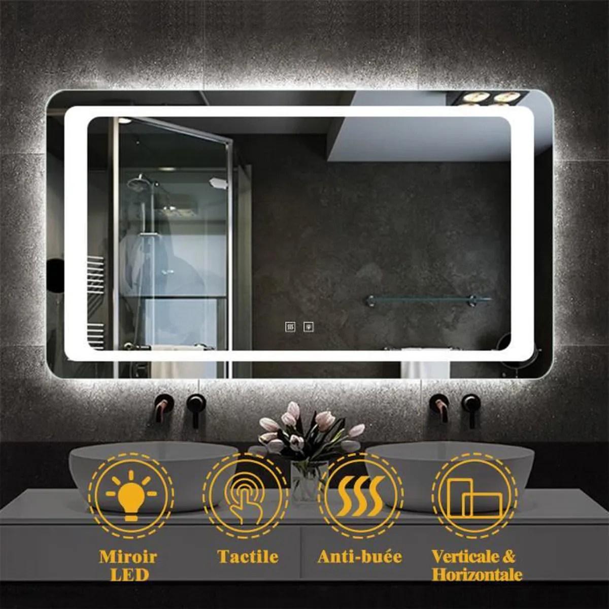 miroir salle de bain 140 x 80