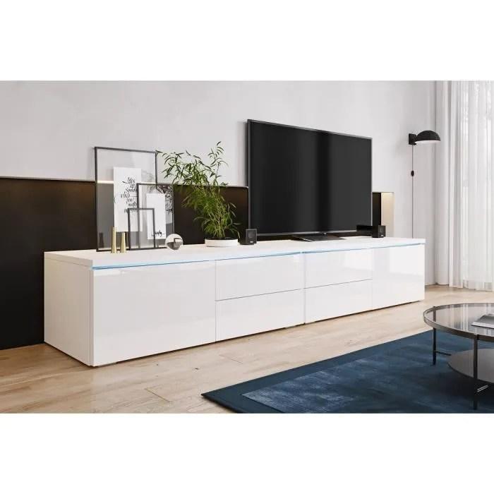furnix meuble tv banc tv lorica double 2x1