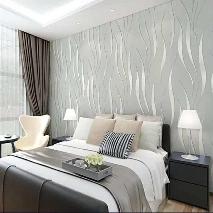 outado papiers peints 3d modernes en materiaux sains et insipides revetement mural pour salon tv fond 10 x 0 53m gris argente