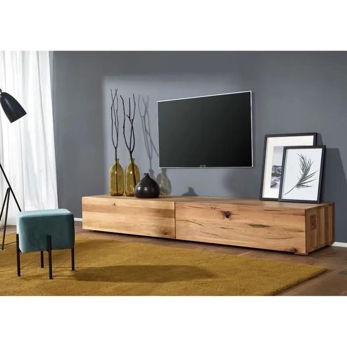 meuble tv bois massif de chene lombard huile bo