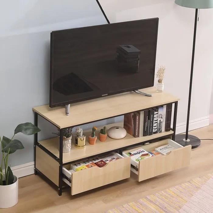 meuble tv 110 40 55cm meuble de rangement pour