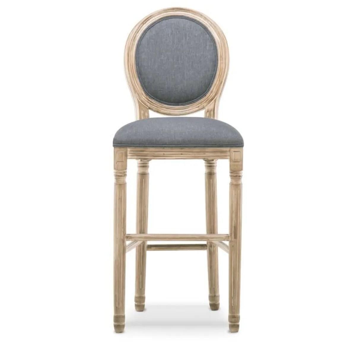 lot de 2 chaises de bar medaillon louis
