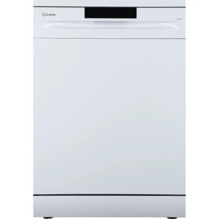 vedette lave vaisselle 60cm 13c 47db a blanc vdp137lw