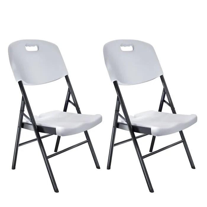 jardin songmics lot de 2 chaises