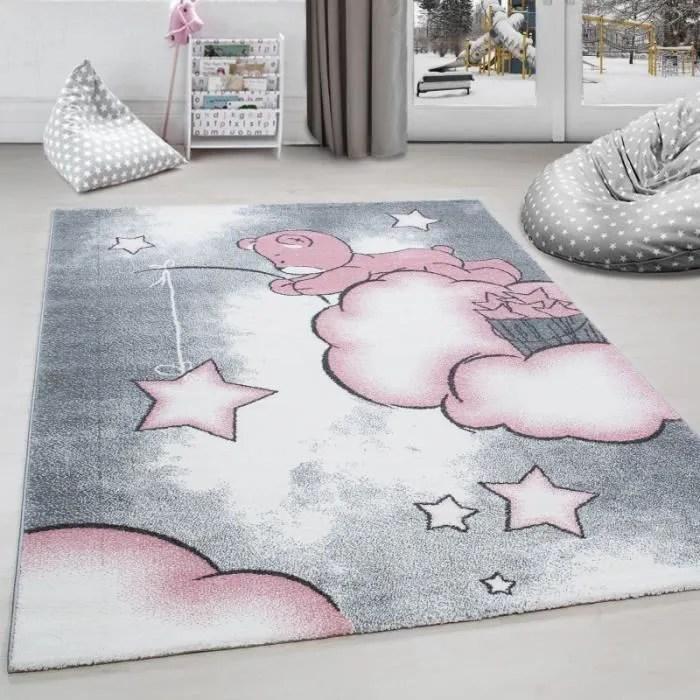 tapis chambre d enfant ours la peche aux etoiles n
