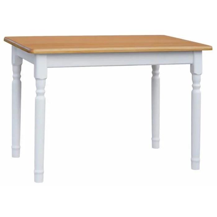 table 70 x 60 cm blanc aune rectangulaire pour cuisine ou salle a manger