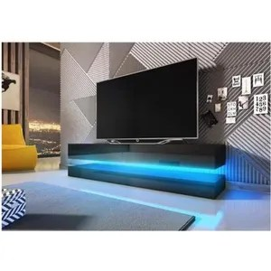 meuble tv led suspendu noir
