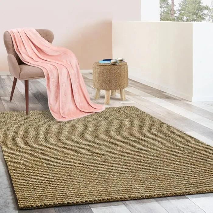 tapis jute 120x180 cm tapis de salon moderne t