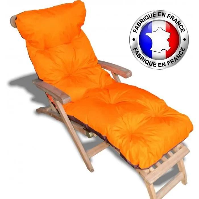coussin pour chaise longue