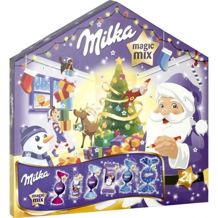 chocolat de noel calendrier de l avent magic mix milka 158 5gr