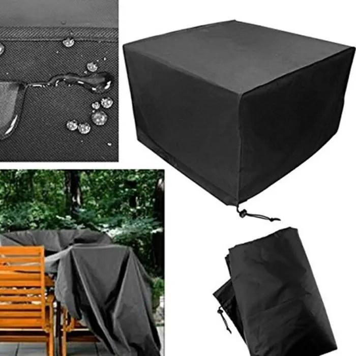 housse de meuble de jardin impermeable pliage exterieur couverture bache de table chaise 123x123x74cm