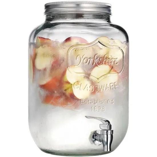 grande fontaine distributeur a boisson en verre 8 litres avec robinet