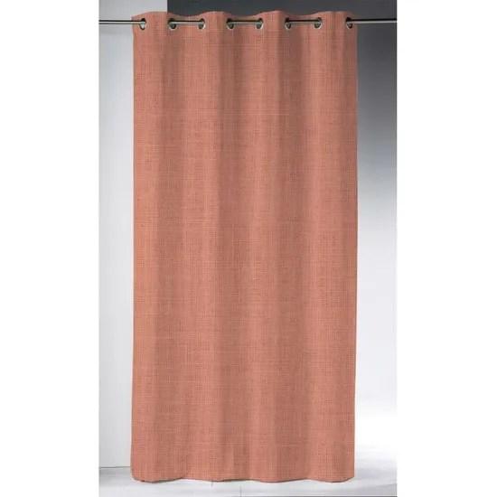 rideau a œillets 140x280 cm en lin lave corail