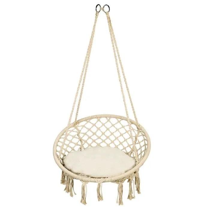 hamac chaise suspendu fauteuil suspendu romantique chaise hamac 185x130cm jusqu a 150 kg