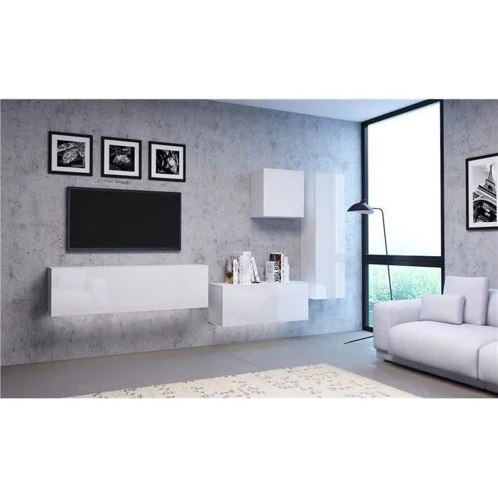 vivio ensemble meubles tv a suspendre