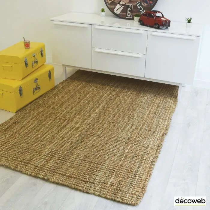 tapis naturel boheme 100 jute naturel 160 x 2