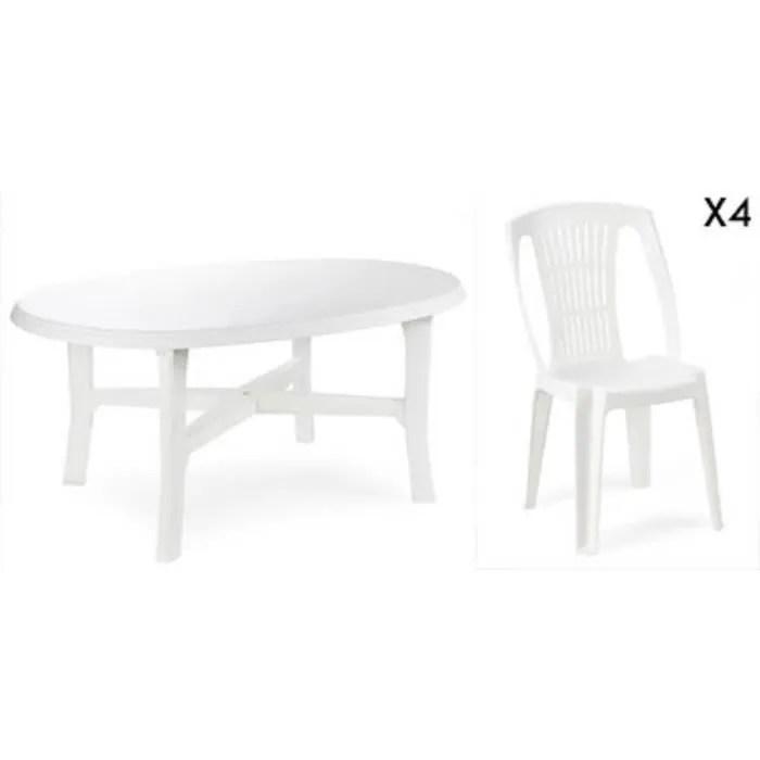 table ovale 4 chaises jardin en