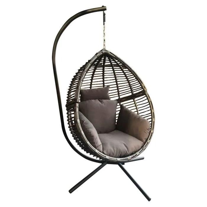 fauteuil suspendu de jardin en forme