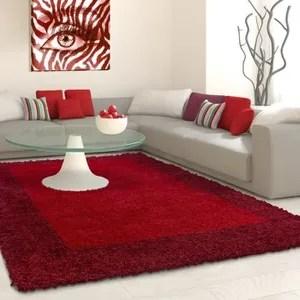 tapis rouge uni