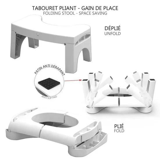 tabouret physiologique pour toilettes tabouret de toilettes anti derapant pliable avec detecteur de lumiere integree libere