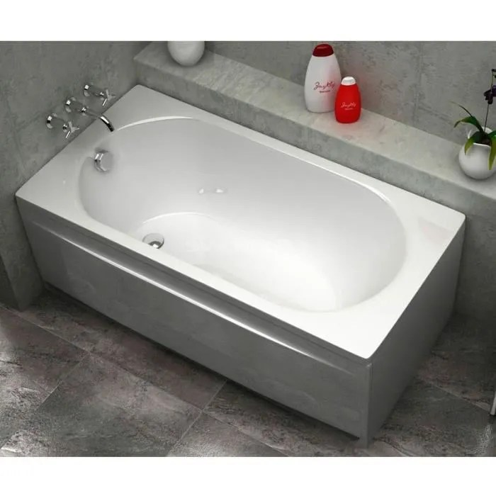 baignoire acrylique droite 160x70 sanycces blanc