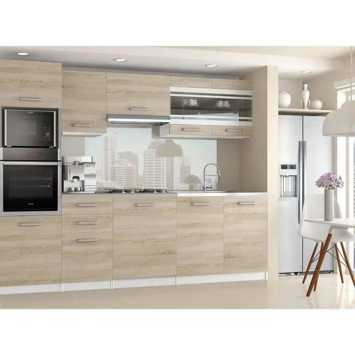 lexham cuisine complete modulaire lineaire l 240cm 7 pcs plan de travail inclus meubles cuisine sonoma gris