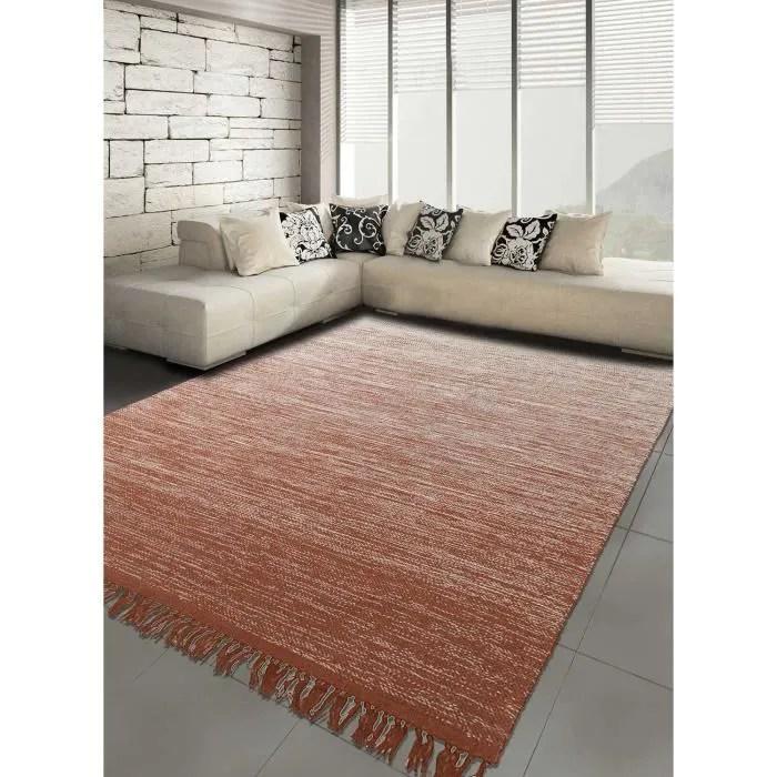tapis moderne pour le salon degrade kilim 80 x 150 cm creme