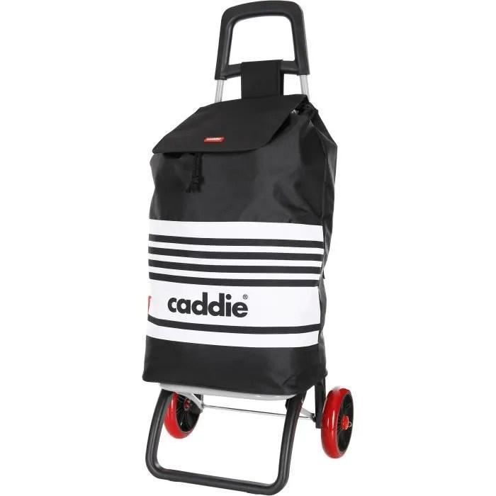 caddie poussette de marche bachata 2 roues noir