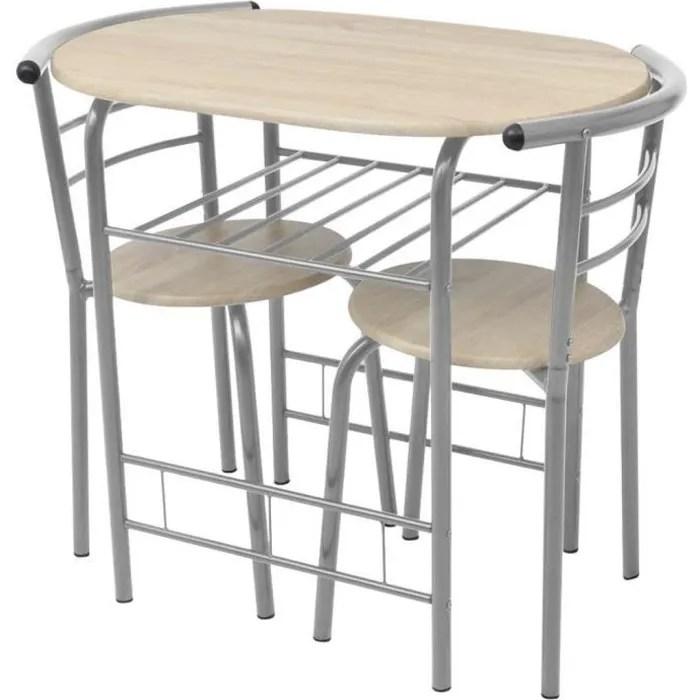 table de cuisine petite bois de mdf et metal gris kitchen table a manger petit dejeuner diner breakfast